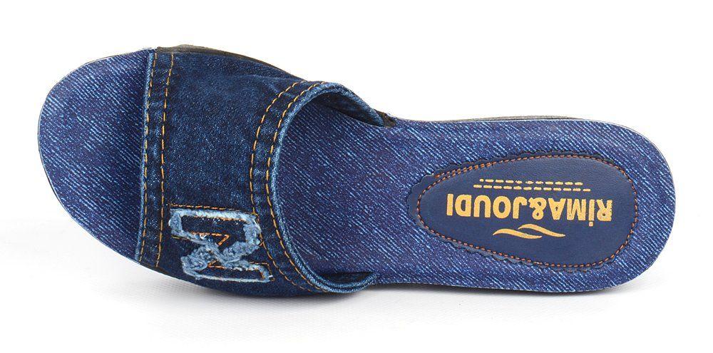 955c1737b ᐉ Купить Шлепанцы женские джинсовые на тракторной подошве Nina ...