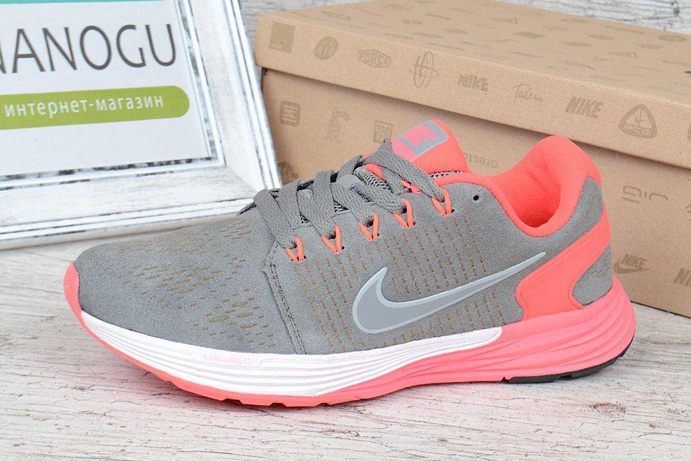 c5a7af03 ᐉ Купить Кроссовки женские замш Nike Lunarglide 7 Running серые с ...