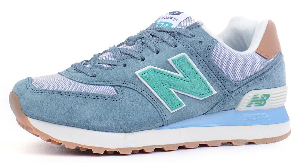 ᐉ Купити Кросівки жіночі замшеві New Balance 574 Blue Gray Mint ... 473f35b253aa2