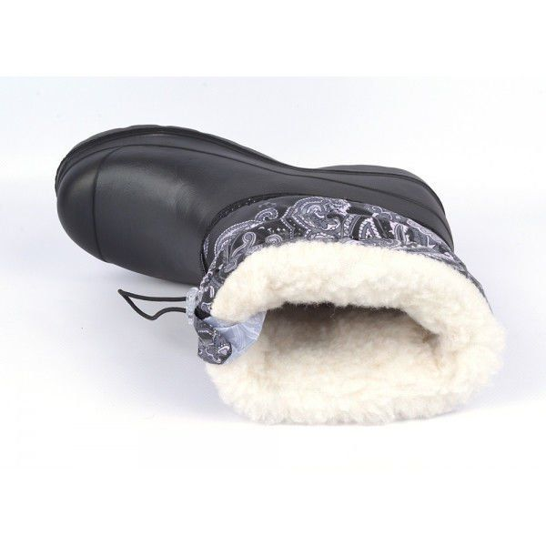 Чоботи жіночі гумові зимові з хутром на блискавці «Турецькі візерунки» 9e05a280eb38f