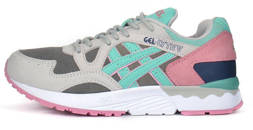 ᐉ Купити Кросівки жіночі замшеві Asics Gel Lyte V сірі м ятні ... ad081245a1149