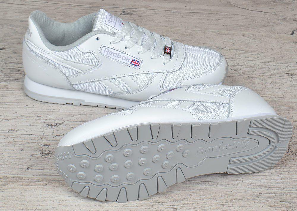 Кросівки чоловічі шкіряні Reebok Classic Leather white сітчасті білі 71888f7e8d037