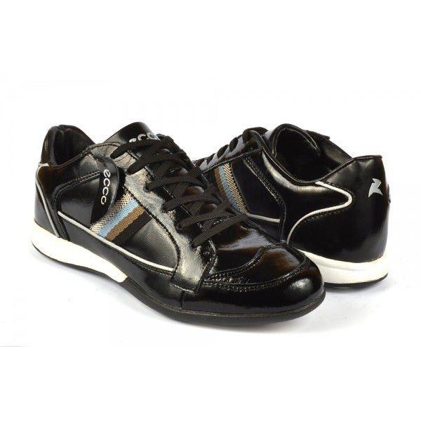 ᐉ Купити Кросівки стильні чоловічі лакові чорного кольору – в ... 2a7417bf8f1a2