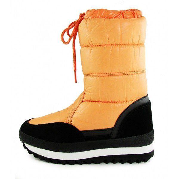 4faf563a2 ᐉ Купить Дутики женские зимние замша оранжевые «Orange» ТМ Jose ...