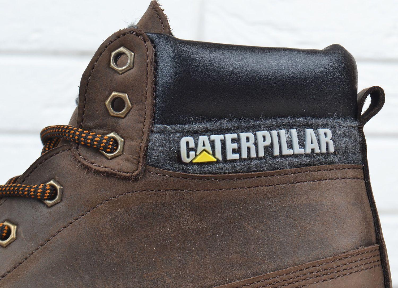 3a197dbcc6e391 Черевики чоловічі шкіряні зимові CAT Caterpillar brown натуральне хутро