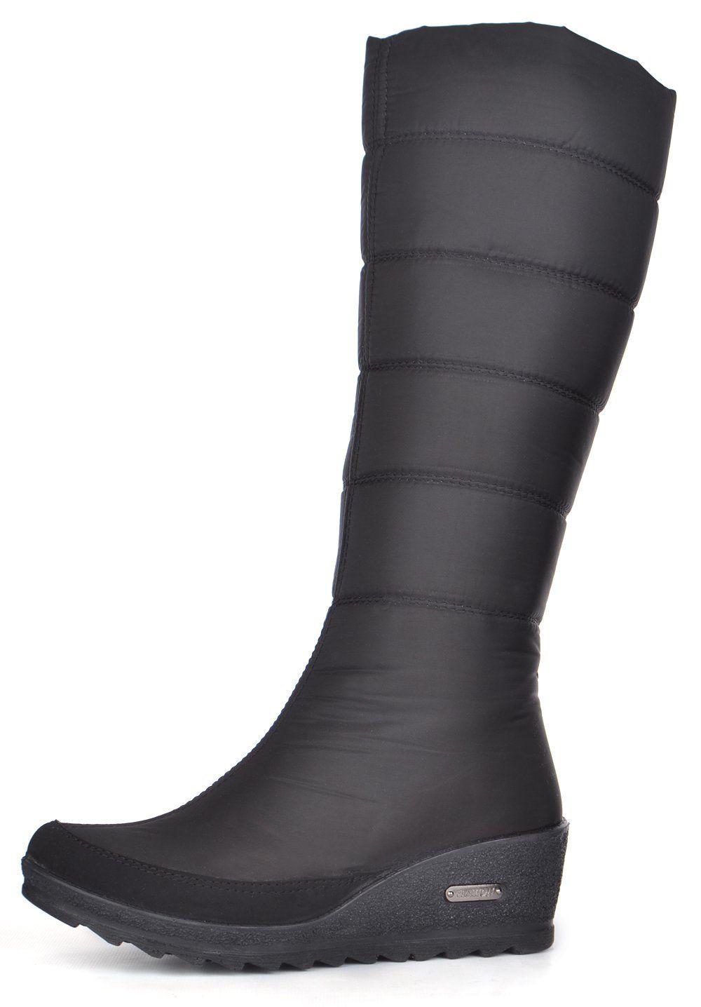 ᐉ Купити Дутики жіночі високі зимові чоботи чорні Classic на ... e62b06a82bfe5