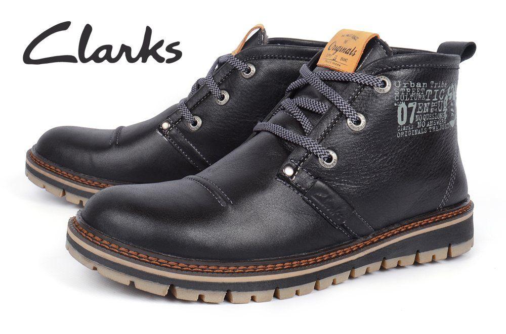ᐉ Купить Ботинки мужские кожаные зимние Clarks Urban Tribe black ... dc5e541a00d