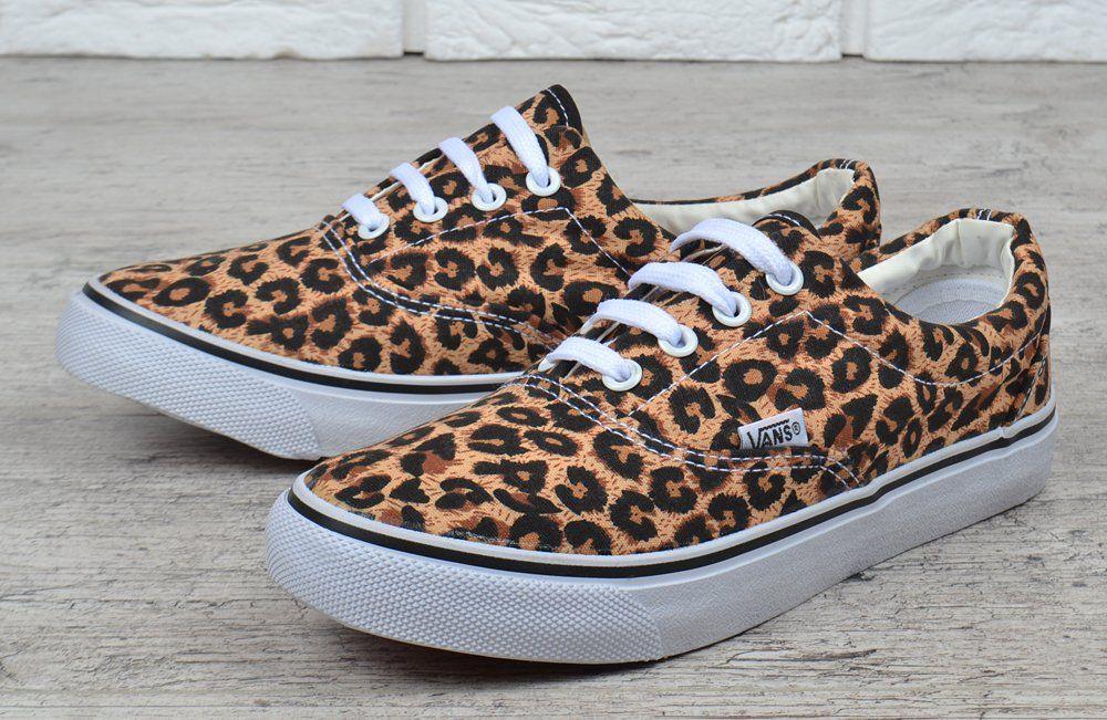 54452fefd5ba ᐉ Купить Кеды женские леопардовые Vans Authentic Leopard коричневые ...