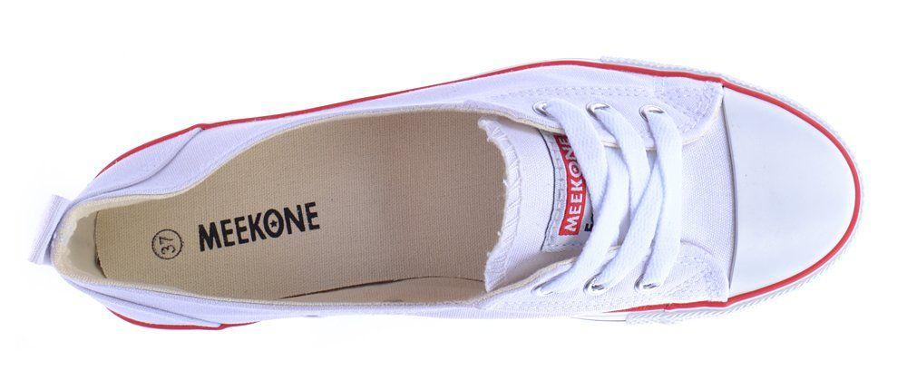 6168c15d ᐉ Купить Кеды белые слипоны Meekone East star на шнуровке – в ...