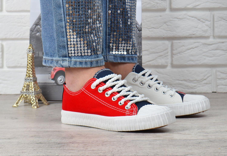 8f54cac4e2b81d ᐉ Купити Кеди жіночі на платформі текстильні Tommy червоні білі ...