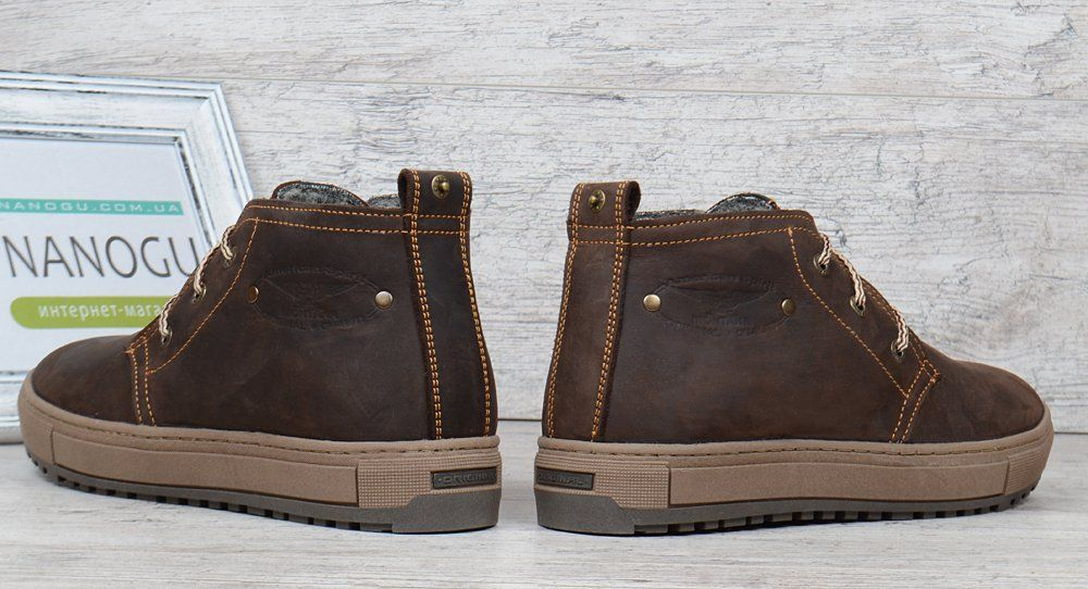 b7b8ca332 ᐉ Купить Ботинки мужские зимние кожаные Montana casual brown на ...