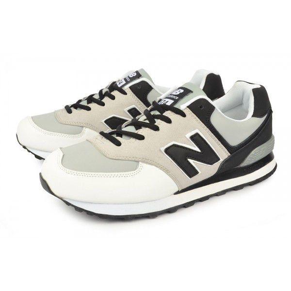 ᐉ Купить Кроссовки мужские кожаные New Balance 574 серо бело черные ... 3ab7bc361b3d0