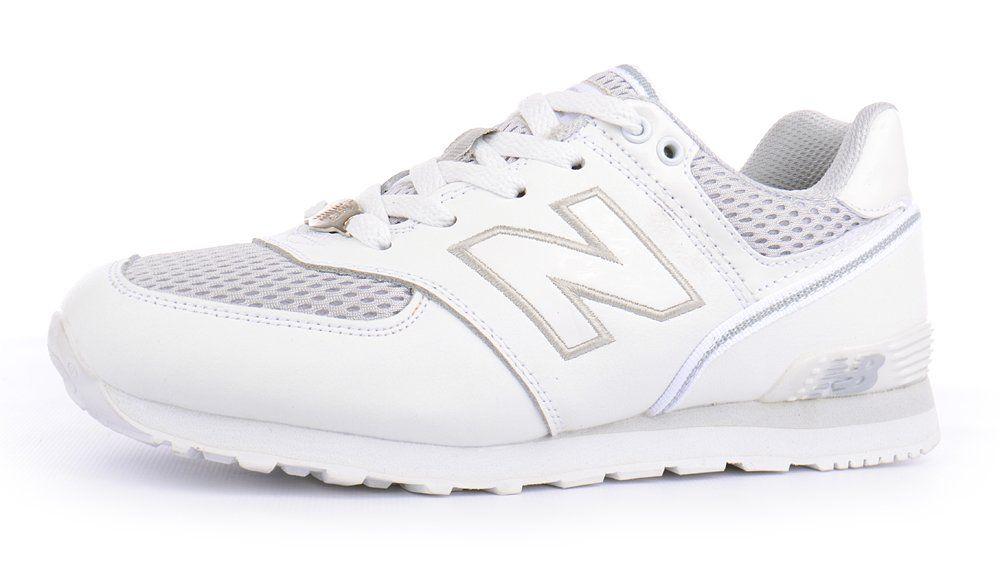 ᐉ Купить Кроссовки женские кожаные New Balance 574 белые . 8deba6052a8