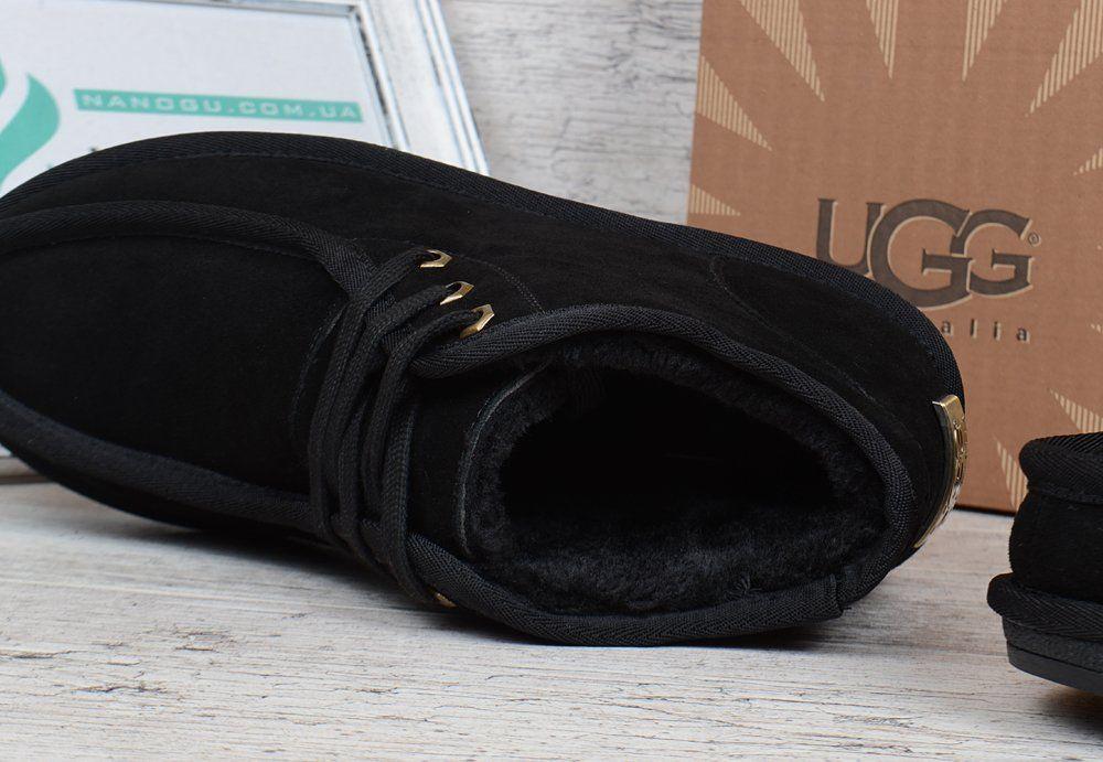 Ботинки топ-сайдери чоловічі UGG Australia чорні замшеві низькі на шнурівці ba758049beef9