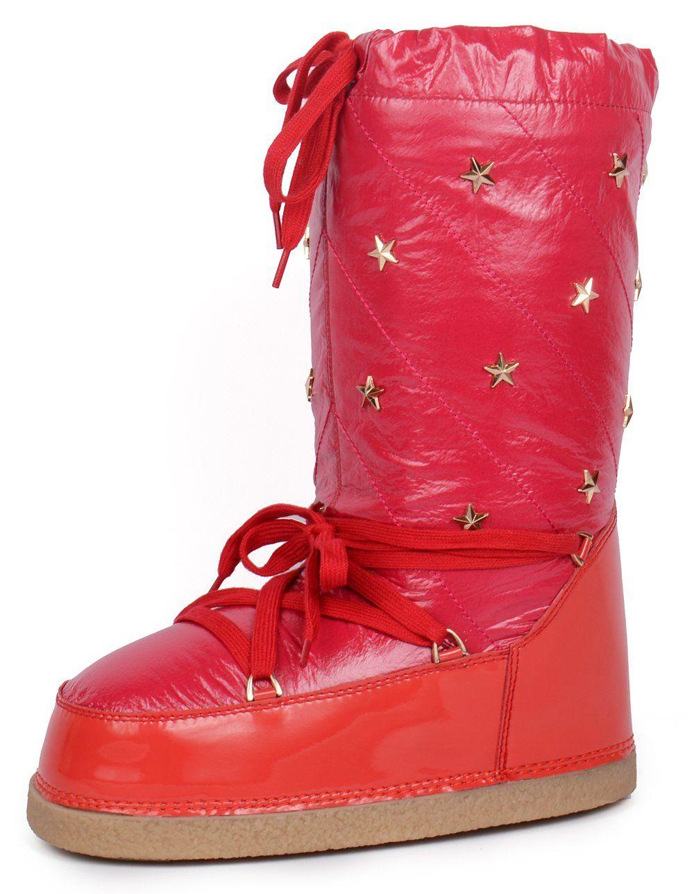 3ad992f118246 ᐉ Купить Дутики женские луноходы термо Moon Boots Red самая теплая ...