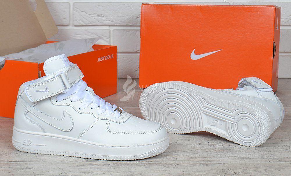 Оновлення в розділі Жіночі кросівки і кеди - Nike Air Force 1 High White  білі жіночі шкіряні кросівки - Інтернет-магазин взуття Nanogu.com.ua  Дніпро 76094dcb37ac7