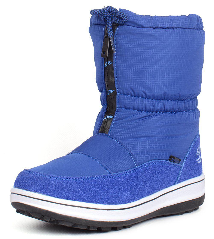 ᐉ Купити Чоботи дутики жіночі термо яскраво сині Winter wave – в ... a66feae4f1baf