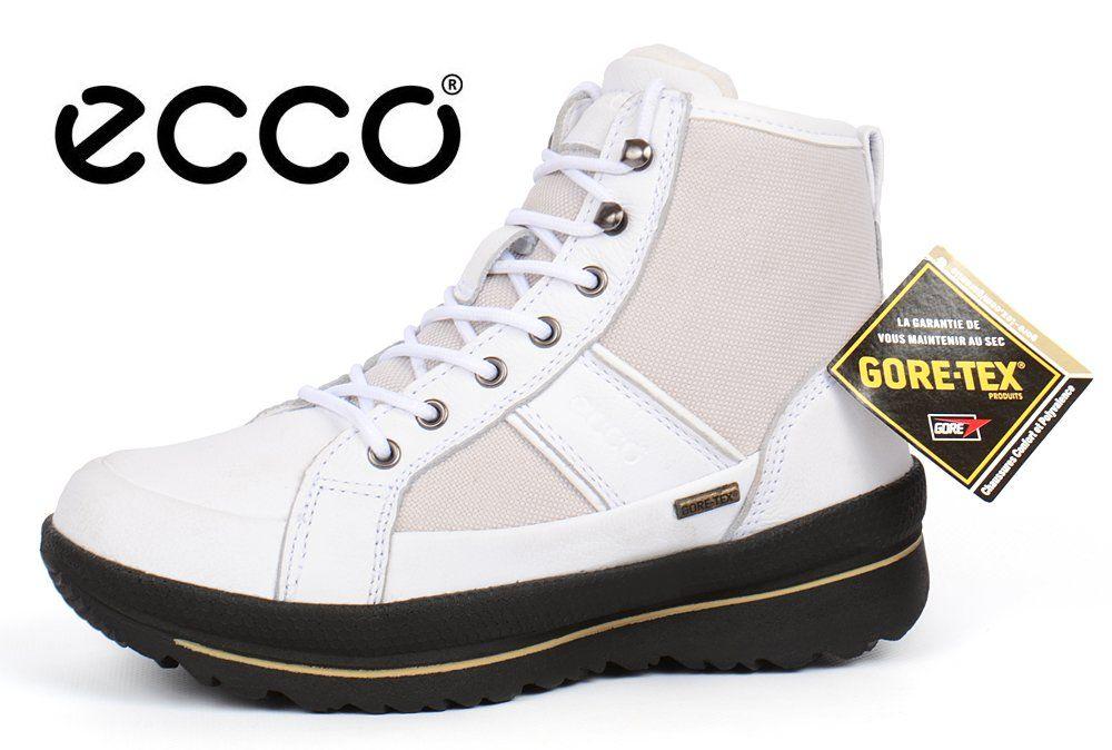 16f6696af ᐉ Купить Ботинки женские зимние кожаные Ecco Gore-tex Hill white ...