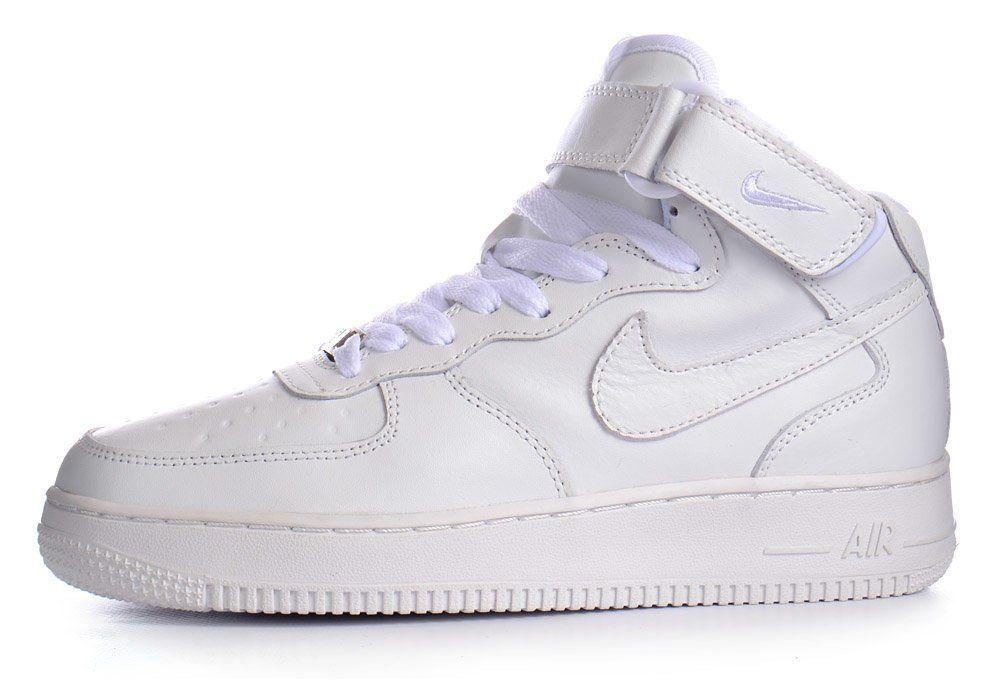 32d207459a19de ᐉ Купити Кросівки Nike Air Force 1 High White шкіряні високі білі ...