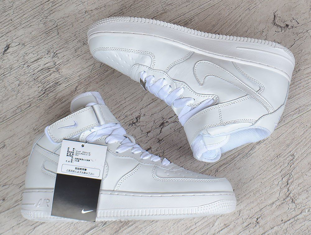 0b011aae ᐉ Купить Кроссовки Nike Air Force 1 High White кожаные высокие ...