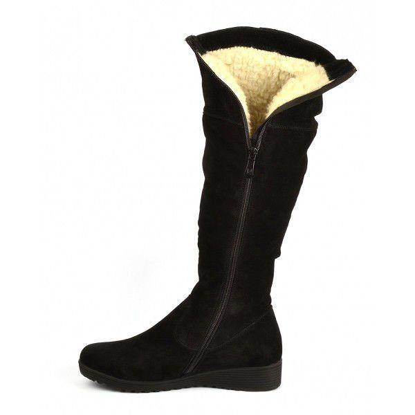 0fa5d1b26665 ᐉ Купить Сапоги женские зимние черные натуральная замша
