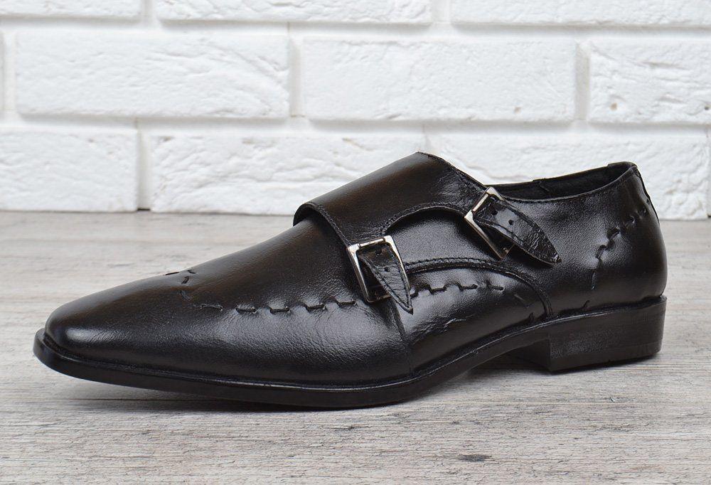 ᐉ Купить Мужские кожаные туфли классические черные Zapaterias VR ... 3fd4b6fecf2