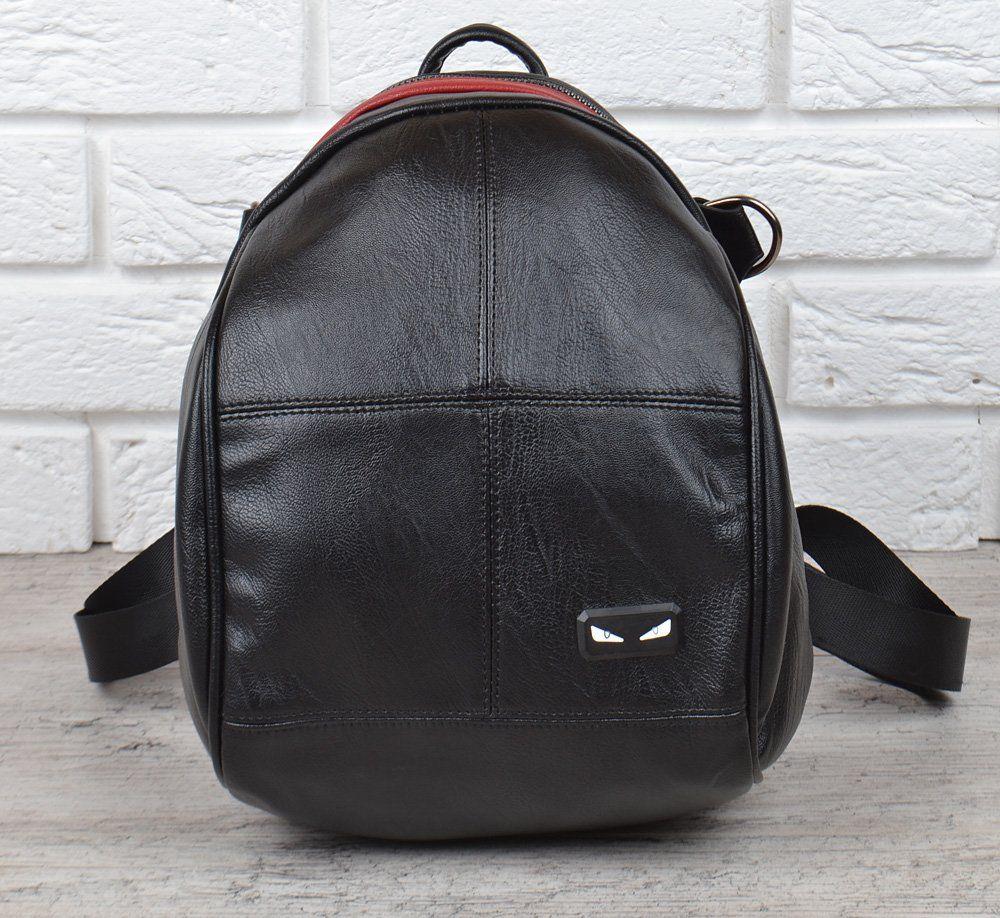 1ca529d50d16 ᐉ Купить Сумка рюкзак женский черный с красным эко-кожа .