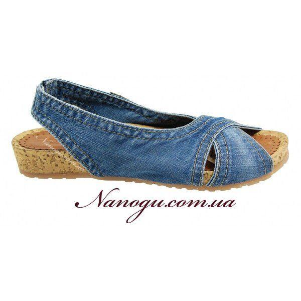 758679d4e ᐉ Купить Босоножки женские джинсовые ТМ ERSAX Турция кожа и пробка ...