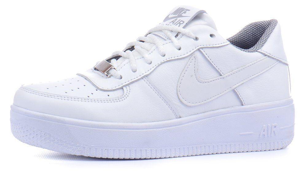 f6a60f4f995062 ᐉ Купити Кросівки жіночі шкіряні Nike Air Force білі – в інтернет ...