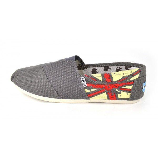 cc1cd614 ᐉ Купить Кеды эспадрильи мужские серые с британским флагом – в ...