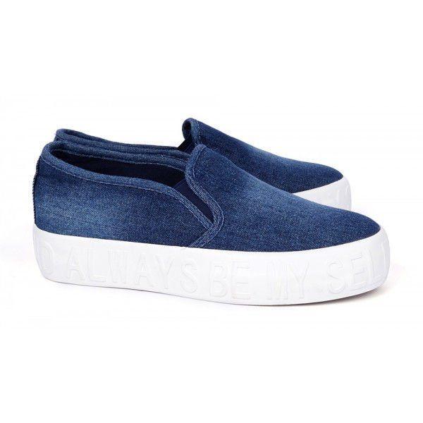 ᐉ Купити Сліпони жіночі джинсові Always be myself на білій підошві ... ab3faf7748d3e