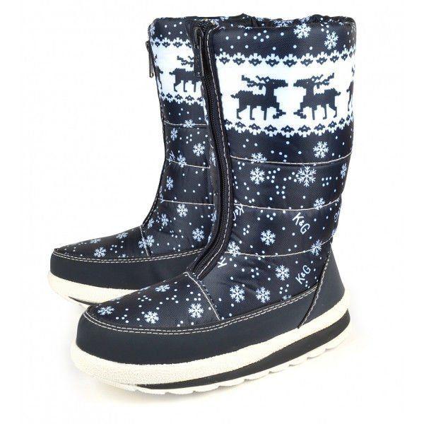 ᐉ Купити Дутики жіночі зимові на хутрі Скандинавські мотиви темно ... 087119c4c0718