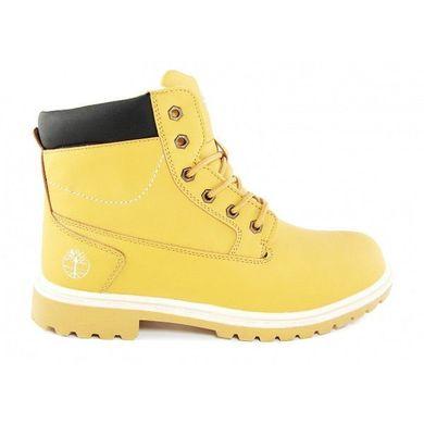 КупитиЧеревики чоловічі зимові шкіряні на хутрі Timberland Classic Yellow  фото 50140c69ef81a
