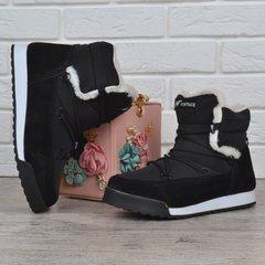 09d18f1b5ed Купить Дутики женские зимние ботинки Crown Vintage на платформе черные  фото