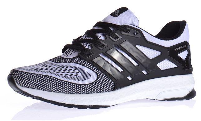 3b2e30925 Купить Кроссовки мужские Adidas Energy Boost 2 Black White текстильные  фото, в интернет-магазине ...