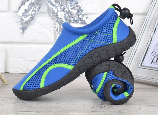 9709dfeac062d5 ... КупитиАквавзуття дитяче на хлопчика для плавання тапочки для коралів  моря яскраво-сині фото, в ...