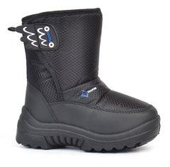 КупитиДутики дитячі сноубутси Warm Waterproof зимові чорні на липучці фото 87e6dfc29277e