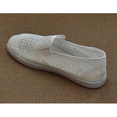 4d40d25bd ... Купить Слипоны женские белые кружевные ажурные «Ангел» фото, в интернет-магазине  обуви ...