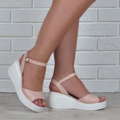 441878342d7f89 КупитиБосоніжки жіночі шкіряні на танкетці рожеві пудра Pink Україна фото,  в інтернет-магазині взуття ...