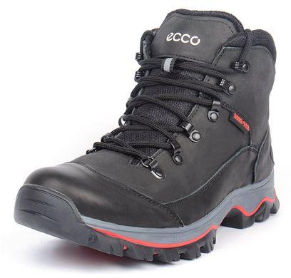 ... Купить Ботинки мужские зимние кожаные на меху Ecco Gore-tex черные  фото 04c865aad0349