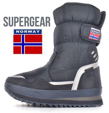 КупитиДутики дитячі зимові чоботи термо Super Gear сині на липучці фото 6c524036c2f4d