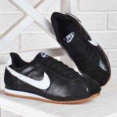 1330c2b6c6e13a КупитиКросівки жіночі шкіряні Nike Cortez чорні з білим фото, в  інтернет-магазині взуття Nanogu