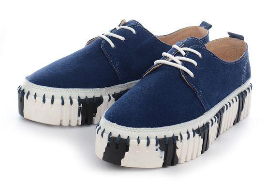aee0d40e0 Купить Мокасины слипоны женские кожаные темно-синие на шнуровке Турция  фото, в интернет- ...