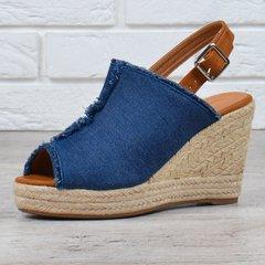 Купити. КупитиБосоніжки жіночі джинсові на плетеними танкетці Comer  Collection Туреччина фото 55148af1252d7