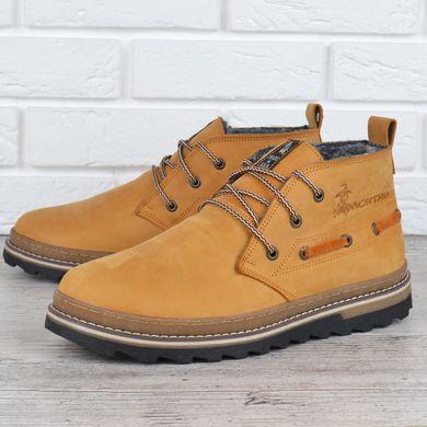 911446c3c0c31a КупитиЧеревики чоловічі зимові шкіряні Montana serious yellow натуральне  хутро фото, в інтернет-магазині взуття ...