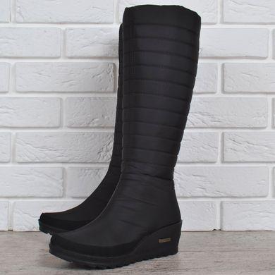 148d91cc89f7 Купить Дутики женские высокие зимние сапоги черные Classic Chic на танкетке  фото, в интернет- ...