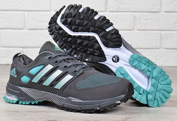 95ad688df Купить Кроссовки мужские Adidas Marathon tr 21 текстильные серые с зеленым  фото, в интернет- ...