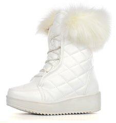 Купити. КупитиЧоботи жіночі зимові білі на платформі завищені зі шнурівкою  Lady winter фото d925dcd8bfb15