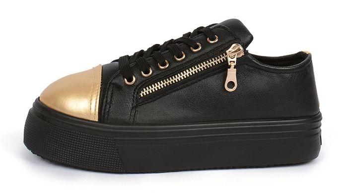 КупитиСліпони жіночі чорні на платформі на шнурівці Haker Original фото 2a8a57bf24be4
