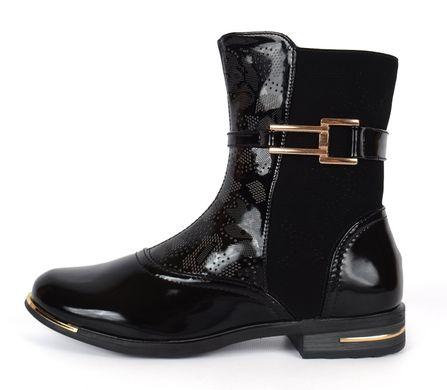 ᐉ Купити Чоботи жіночі чорні лакований носок на блискавці Butterfly ... 631a762535151
